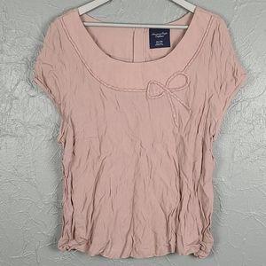 AEO AMERICAN EAGLE Mauve Pink Cap Sleeve Blouse